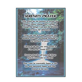 Serenity Prayer (Waterfall) Greeting Card