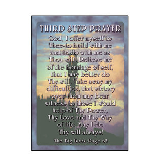 Third Step Prayer Greeting Card