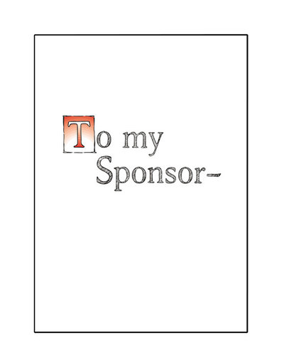 To My Sponsor Greeting Card