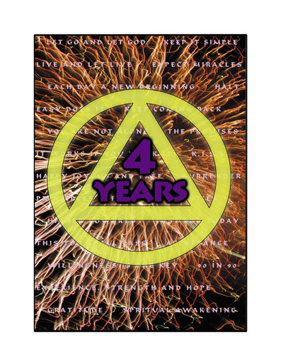 AA Logo- 4 Years Greeting Card