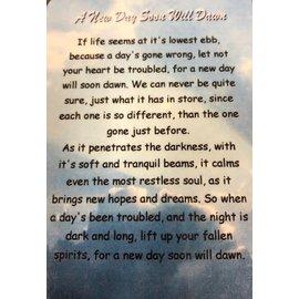 A New Day Soon Will Dawn verse card