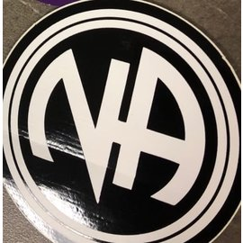 Sticker, NA Logo Large Black/White