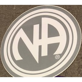 Sticker, NA Logo Large Silver