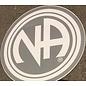 Sticker, NA Logo Large Silver