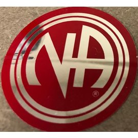 Sticker, NA Logo Large Red/Silver