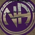 Sticker, NA Logo Large Purple/Silver