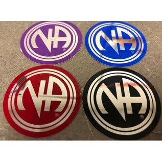 Sticker, NA Logo Large Blue / Silver