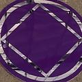 Sticker, NA Symbol Large Purple/Silver