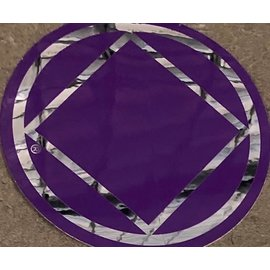 Sticker, NA Symbol Large Purple/Silver