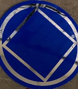 Sticker, NA Symbol Large Blue