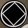 Sticker, NA Symbol Large Black/White