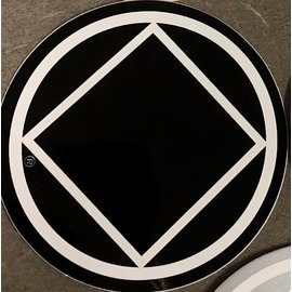 Sticker, NA Symbol Large Black/White