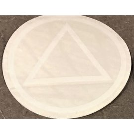Sticker, AA Symbol Large White/Clear