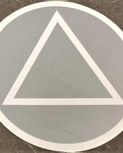 Sticker, AA Symbol Large Silver/White