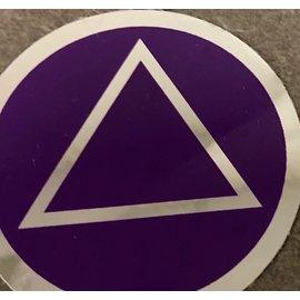 Sticker, AA Symbol Large Purple/Silver