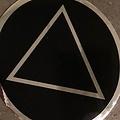 Sticker, AA Symbol Large Black/ Silver