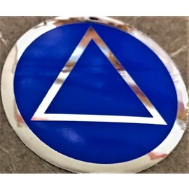 Sticker, AA Symbol Large Blue/ Silver