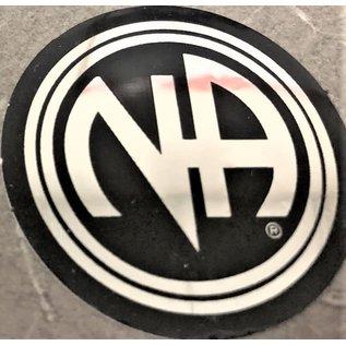 Sticker, NA Logo Large Black/Silver