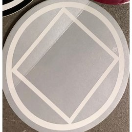 Sticker, NA Symbol Large Silver