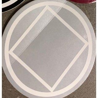 Sticker, NA Symbol Large Silver