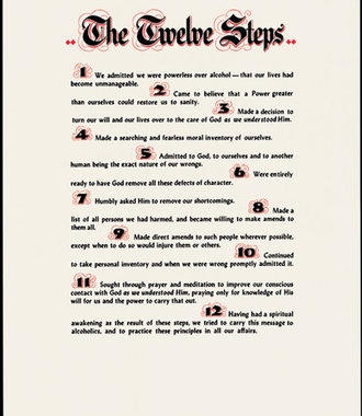 """Poster, AA 12 Steps, Small 12 1/4"""" X 17 1/4"""""""