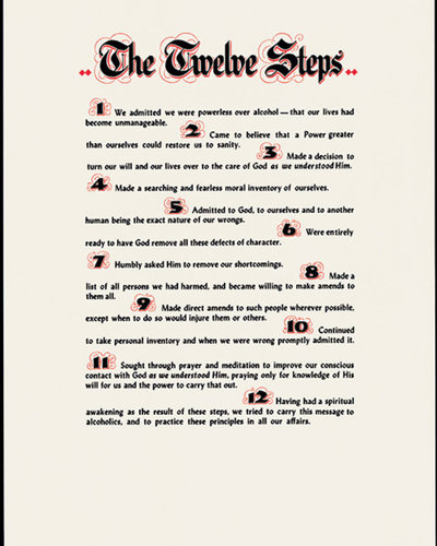 Poster, AA 12 Steps, Small