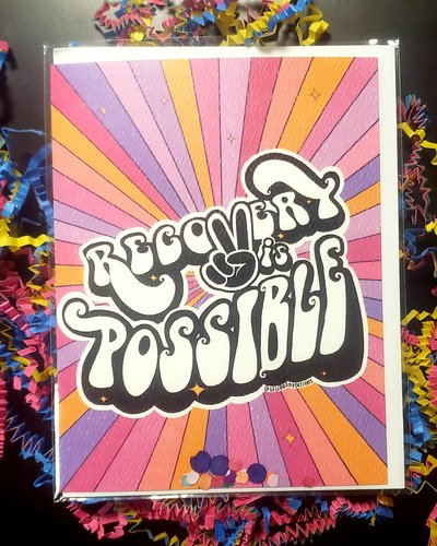 Celebrady Recovery Is Possible Groovy Greeting Card