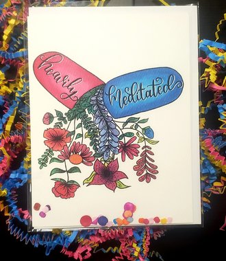 Heavily Meditated Greeting Card