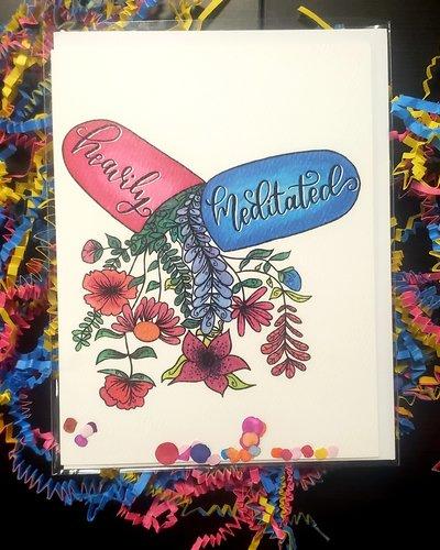 Celebrady Heavily Meditated Greeting Card