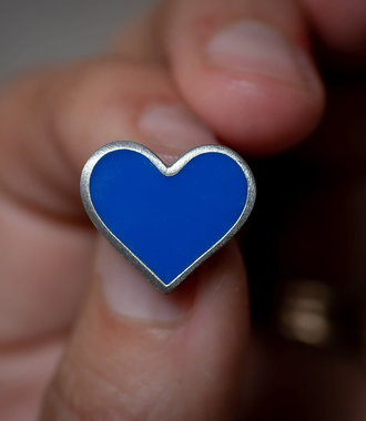 Blue Heart Support Pin- Healthcare Workers