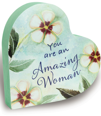 Amazing Woman -2 Sided Heart Block