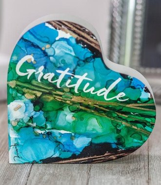Give Thanks/Gratitude- 2 Sided Heart Block