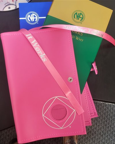 NA Symbol Double Book Cover- Pink