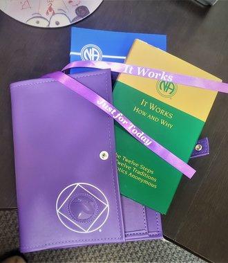 NA Symbol Double Book Cover- Purple