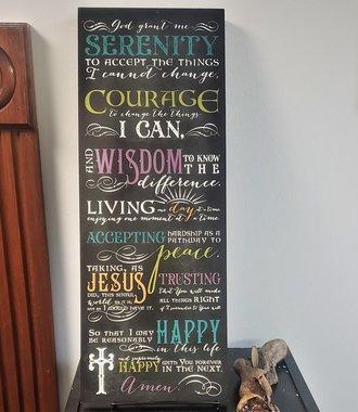 Serenity Prayer Wall Plaque Black