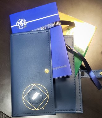 NA Symbol Double Book Cover- Blue