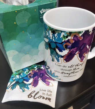 Life in Full Bloom Mug & Coaster Set