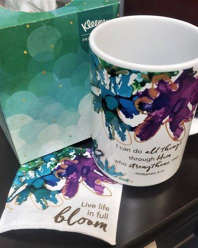 Abbey CA Gifts Life in Full Bloom Mug & Coaster Set