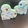 Abbey CA Gifts Amazing Woman 2 Sided Heart Block