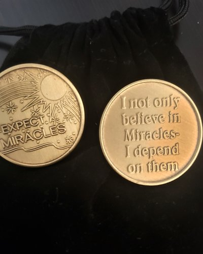 Expect Miracles Gratitude Coin