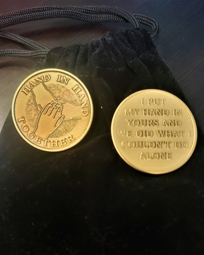 Hand In Hand Together Gratitude Coin