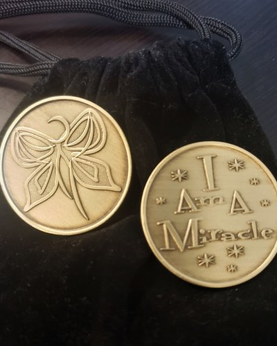 I Am A Miracle Butterfly Gratitude Coin