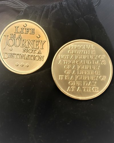 Life Is A Journey Gratitude Coin