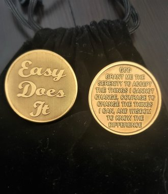 Easy Does It Gratitude Coin