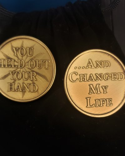You Held Out Your Hand Gratitude Coin