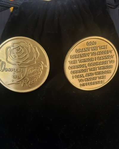 Women in Recovery (Rose) Gratitude Coin