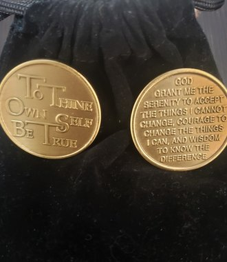 To Thine Own Self Be True Gratitude Coin