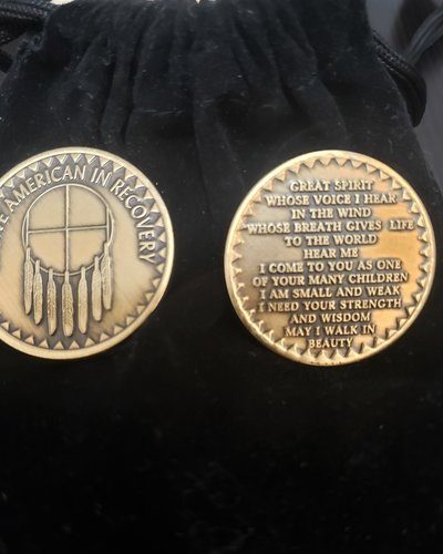 Native American In Recovery Gratitude Coin