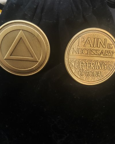 Pain Is Necessary Gratitude Coin