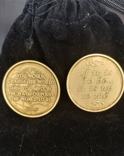 If It Is To Be  (Gandhi) Gratitude Coin
